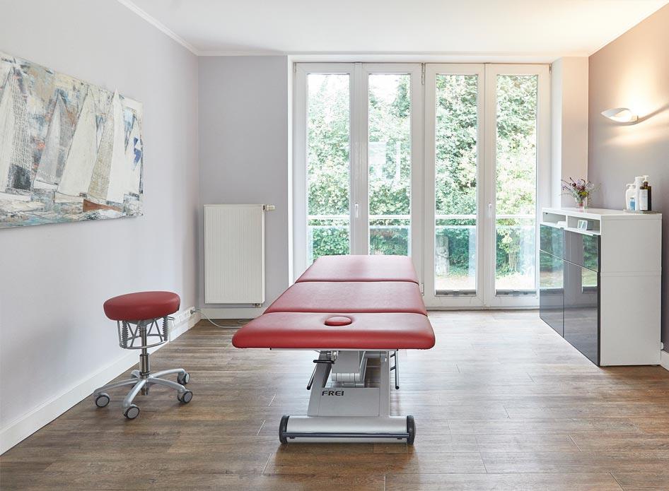 Behandlungszimmer - Physiotherapie Praxis Nienstedten